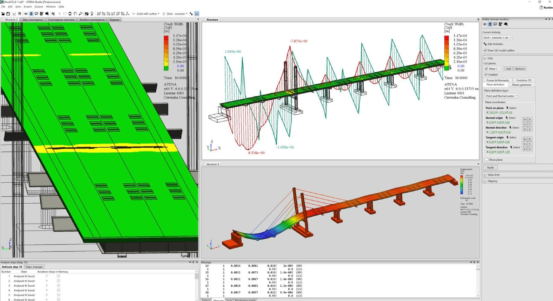 Atena ensoft inc bridge structure multiple output displays including moment and shear diagrams pooptronica Choice Image